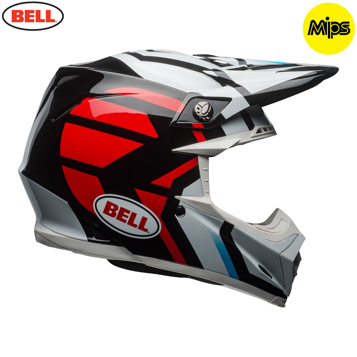 0cac7770c3dd0 Bell MX 2018 Moto-9 Mips Adult Helmet (District White/Black/Red)